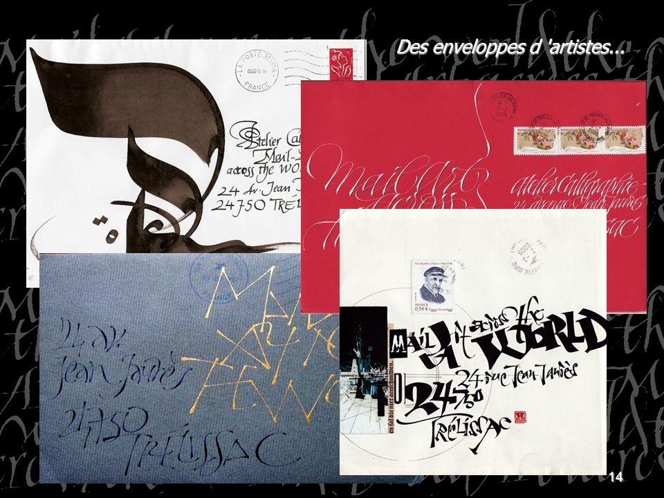 Des enveloppes d artistes...