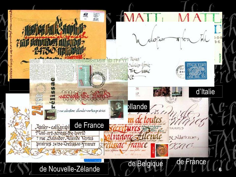 d'Allemagne D Argentine. des Etats-Unis. d'Argenti ne. d'Italie. de Hollande. de France. de France.