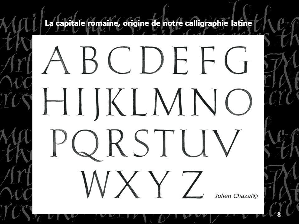La capitale romaine, origine de notre calligraphie latine