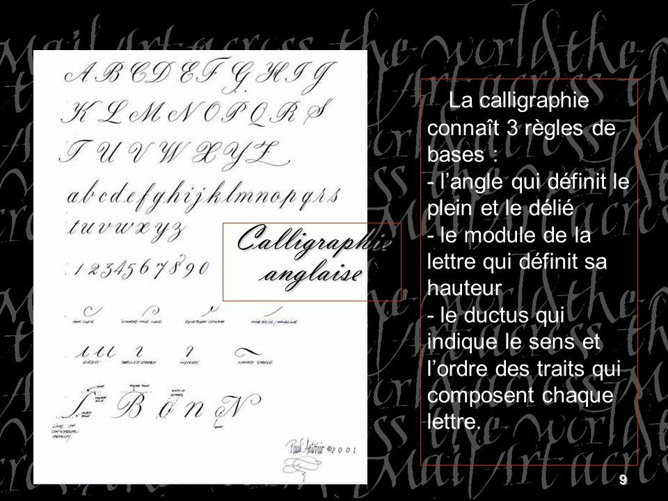 Calligraphie anglaise
