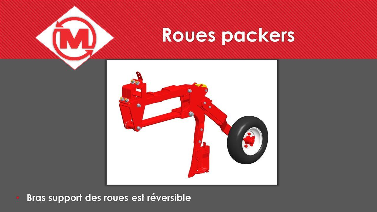 Roues packers Bras support des roues est réversible