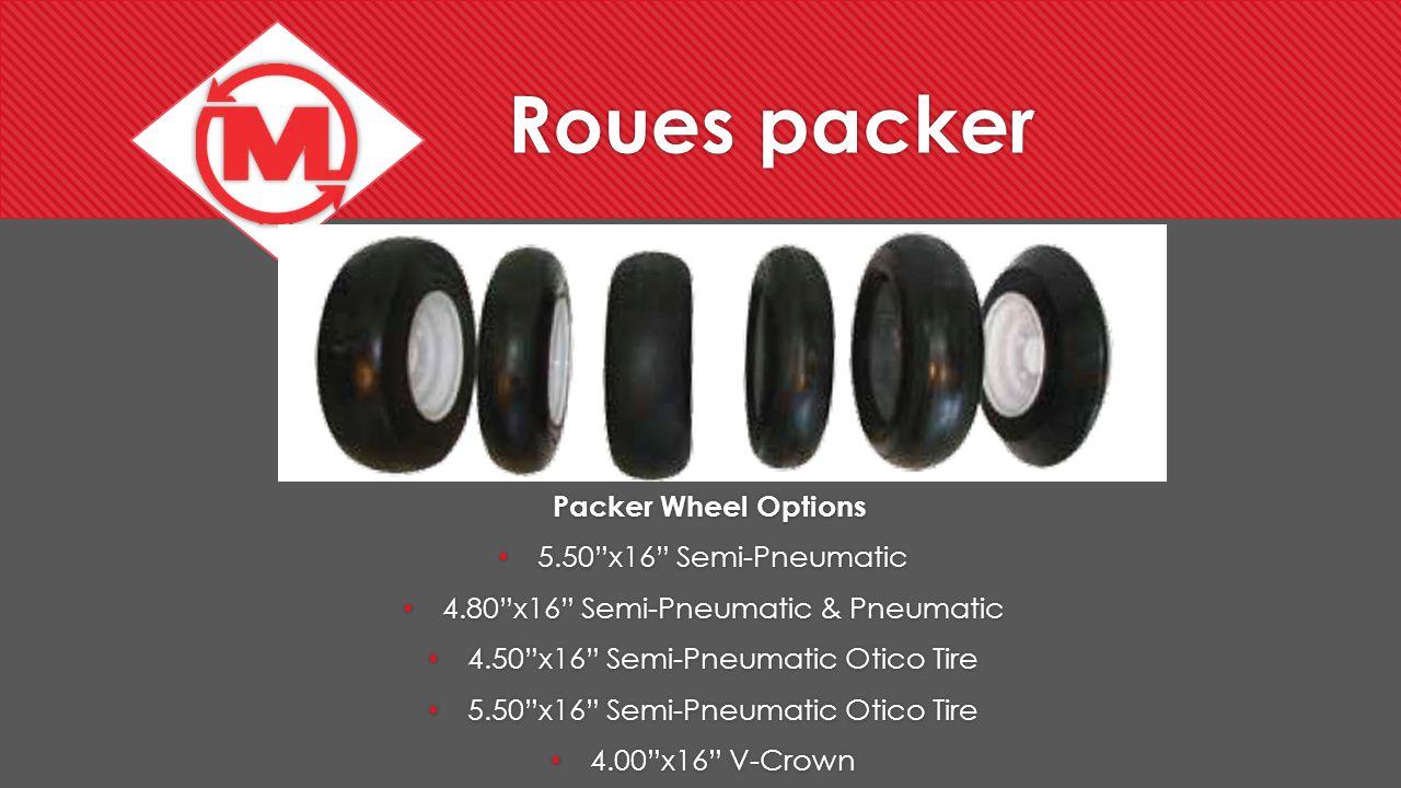 Roues packer Packer Wheel Options 5.50 x16 Semi-Pneumatic