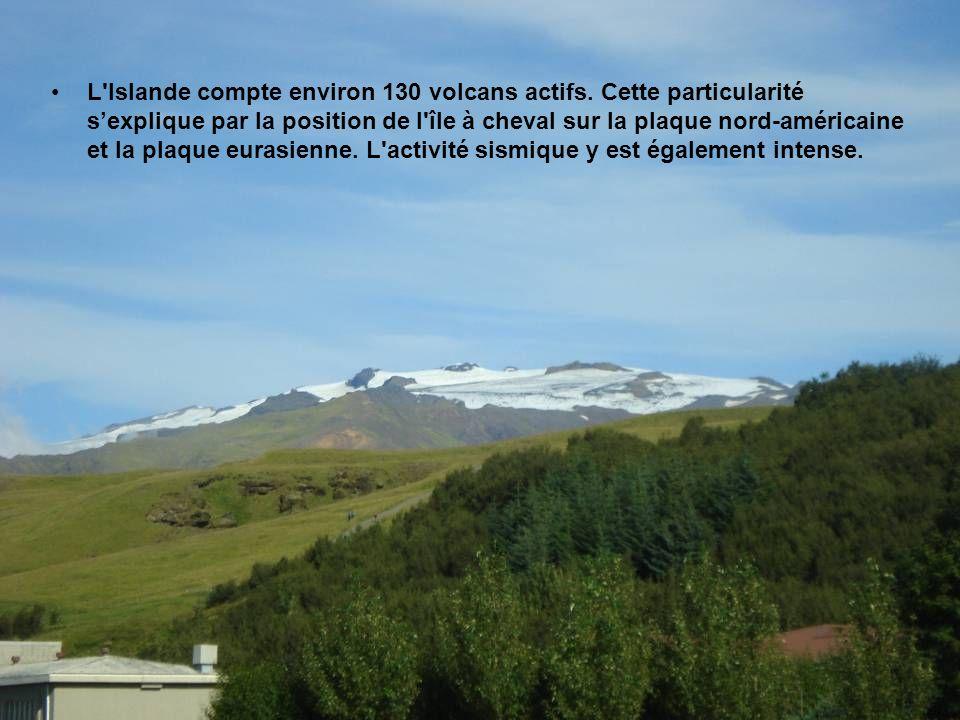 L Islande compte environ 130 volcans actifs