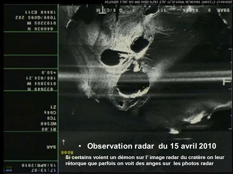 Observation radar du 15 avril 2010