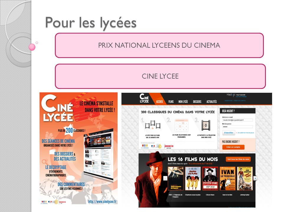 PRIX NATIONAL LYCEENS DU CINEMA