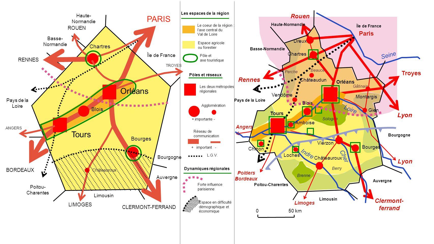 Les espaces de la région Dynamiques régionales
