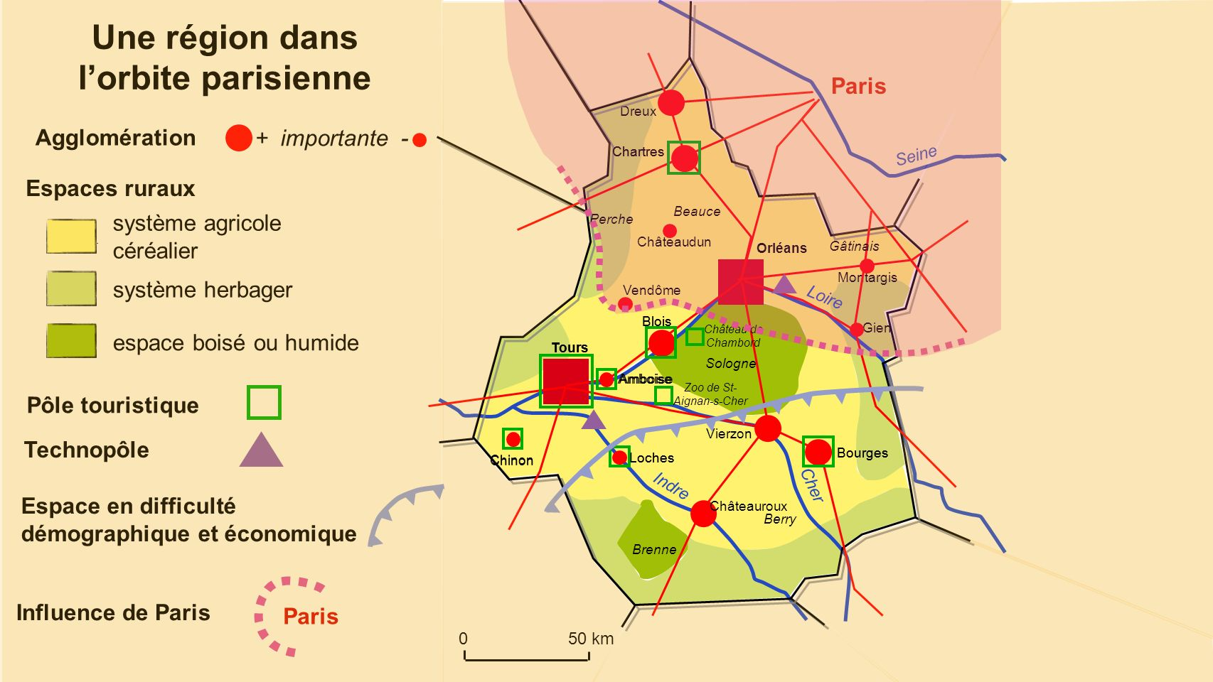 Une région dans l'orbite parisienne