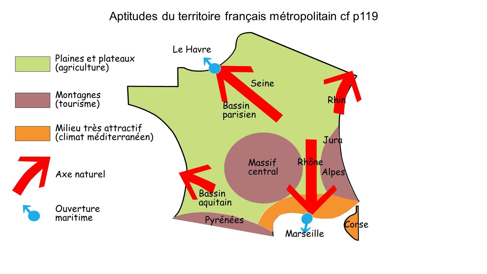 Aptitudes du territoire français métropolitain cf p119