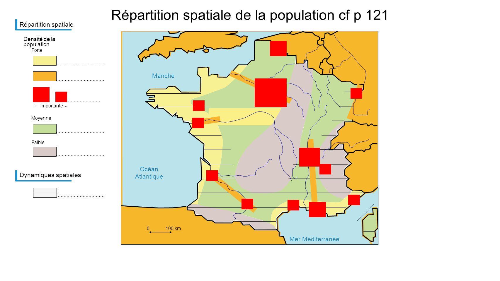 Répartition spatiale de la population cf p 121