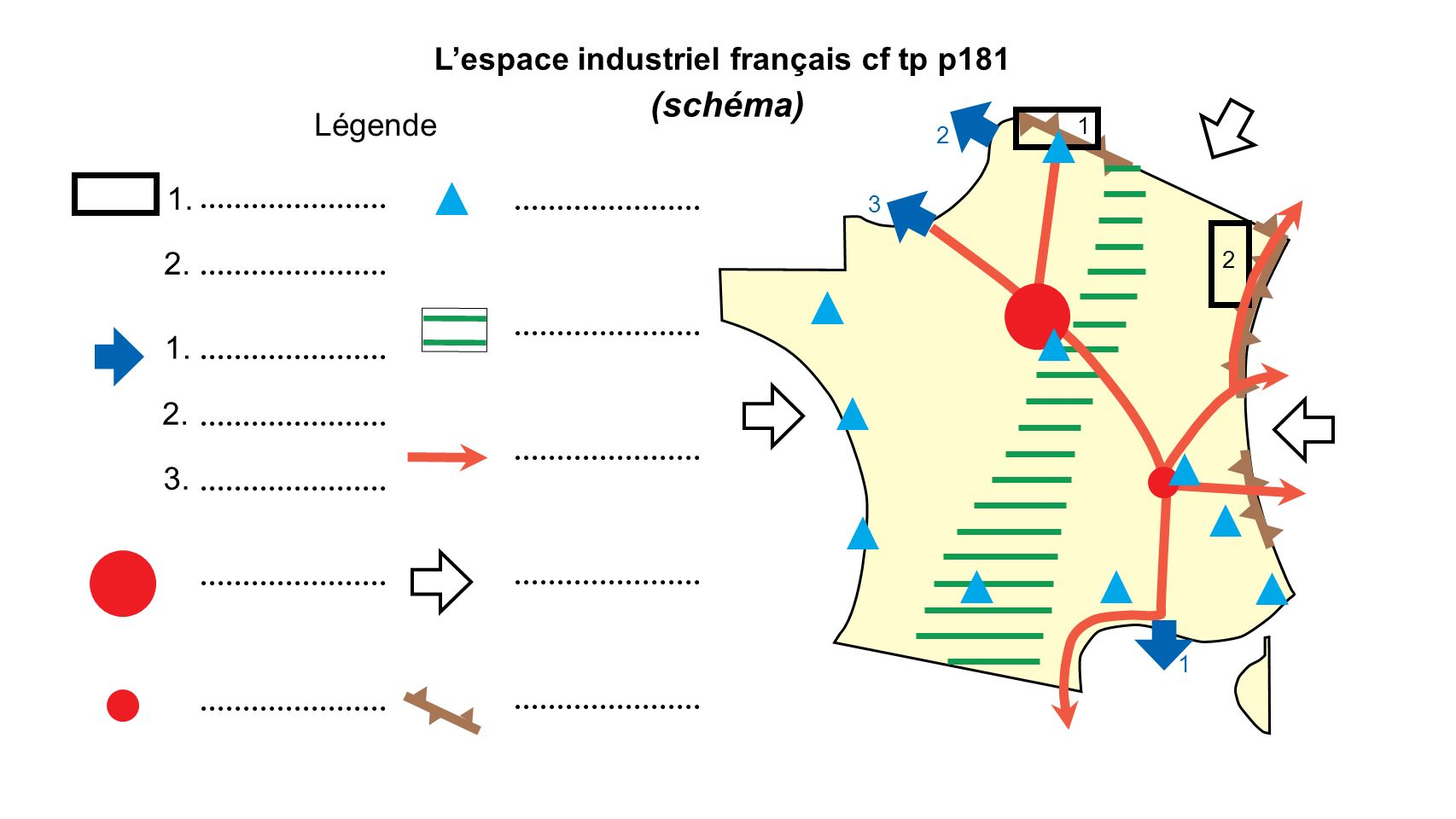L'espace industriel français cf tp p181