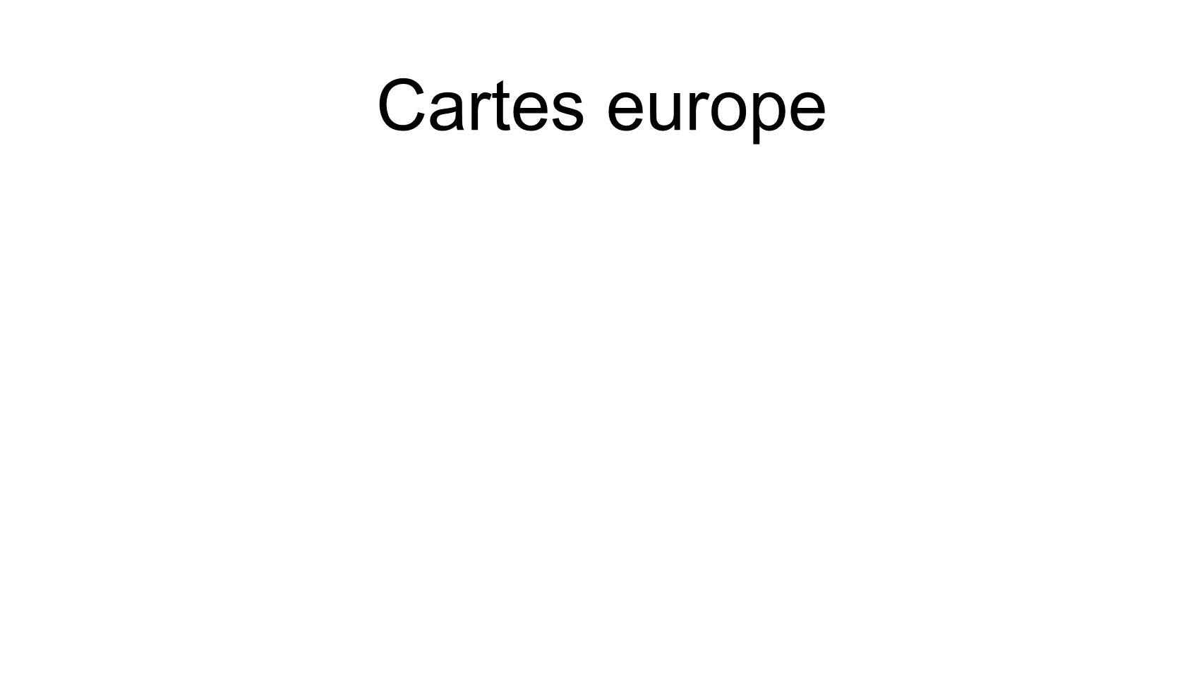 Cartes europe
