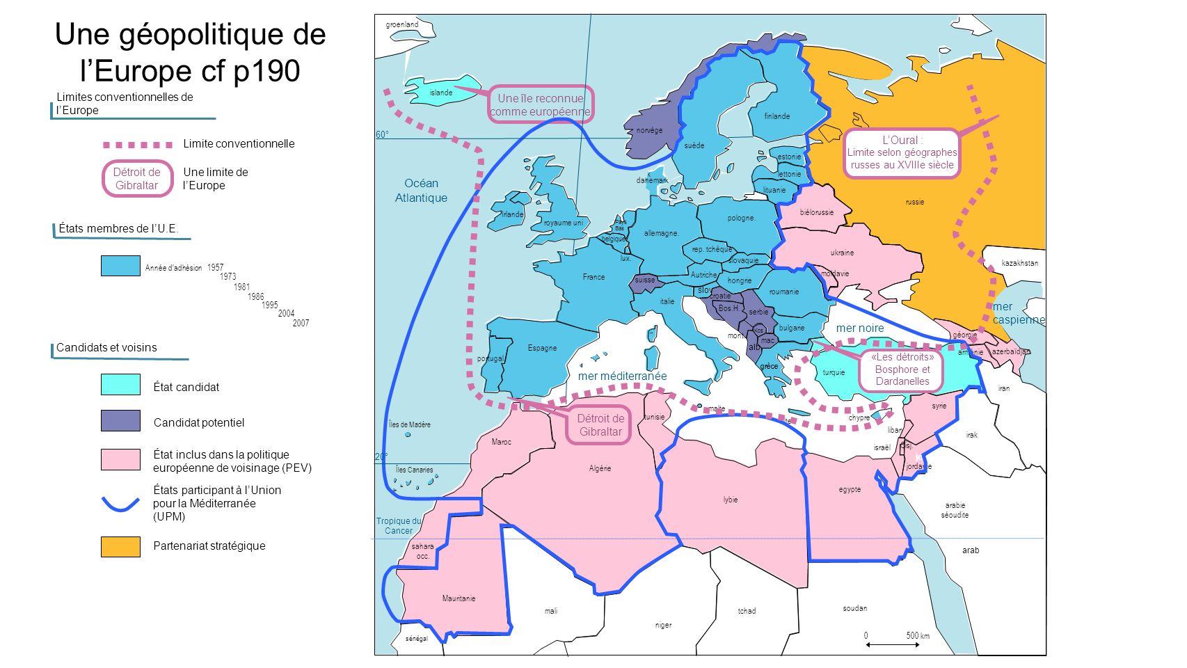 Une géopolitique de l'Europe cf p190