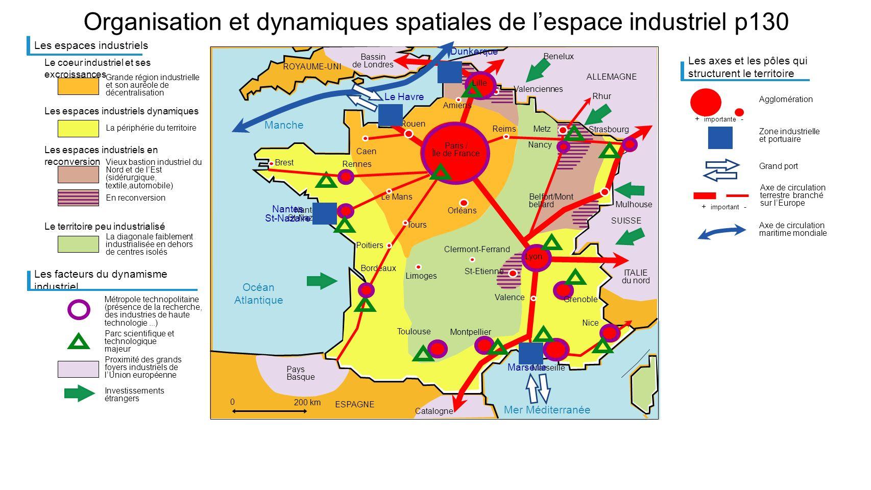 Organisation et dynamiques spatiales de l'espace industriel p130