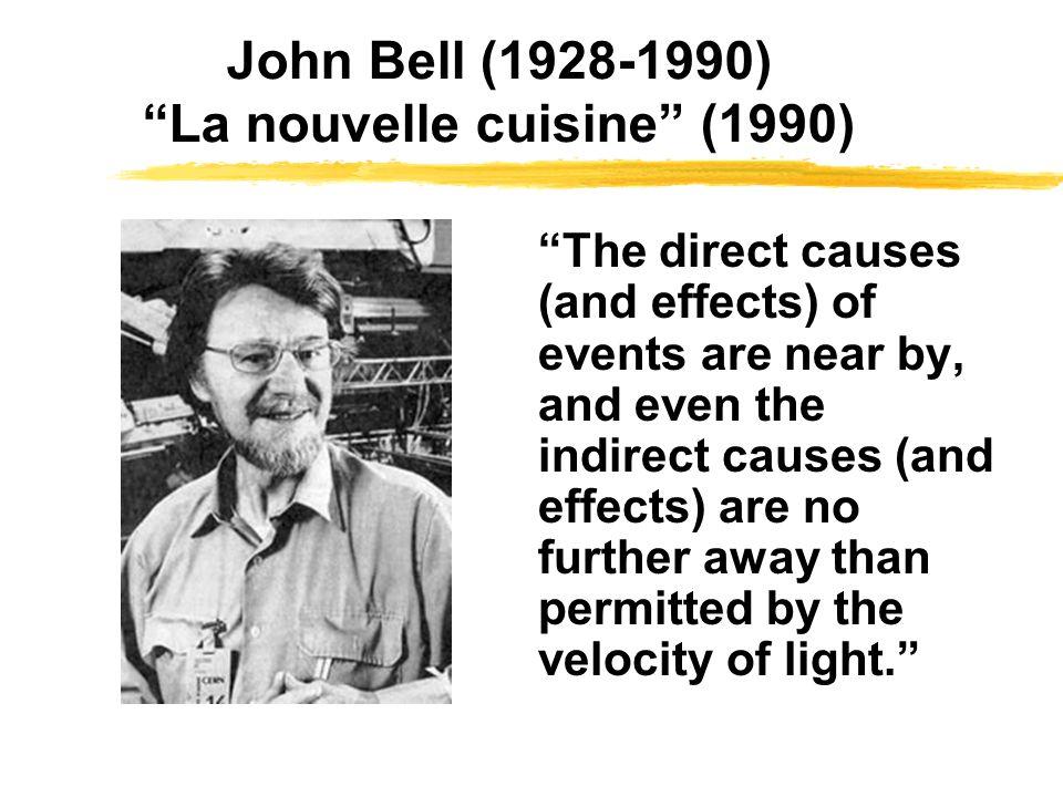 John Bell (1928-1990) La nouvelle cuisine (1990)