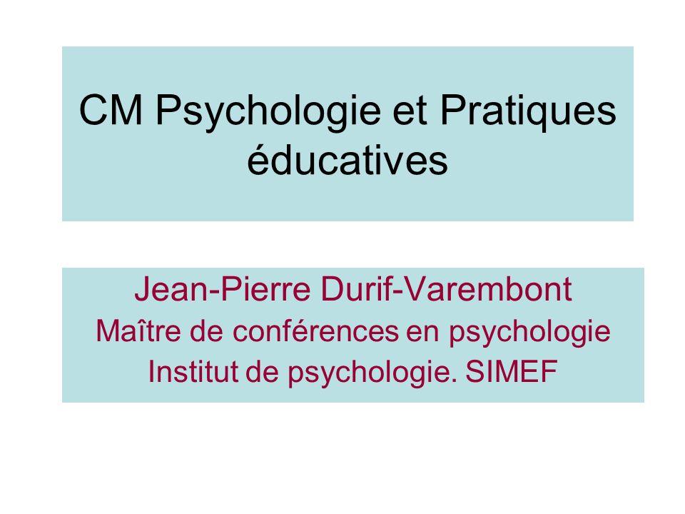 CM Psychologie et Pratiques éducatives