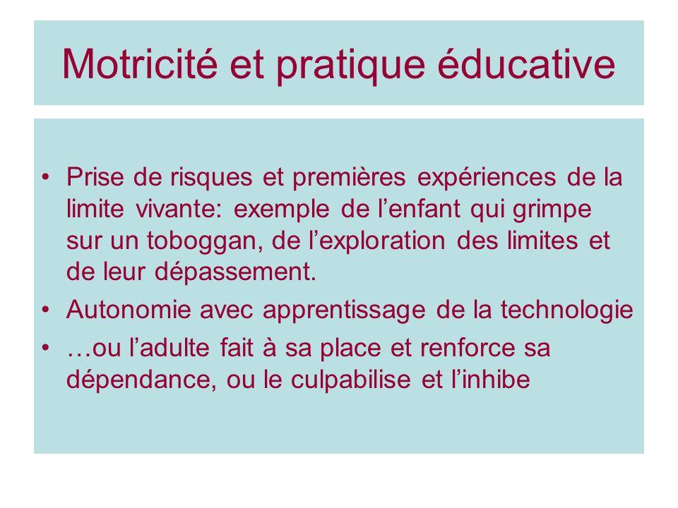 Motricité et pratique éducative