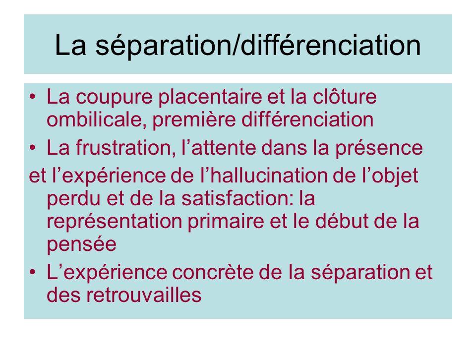 La séparation/différenciation