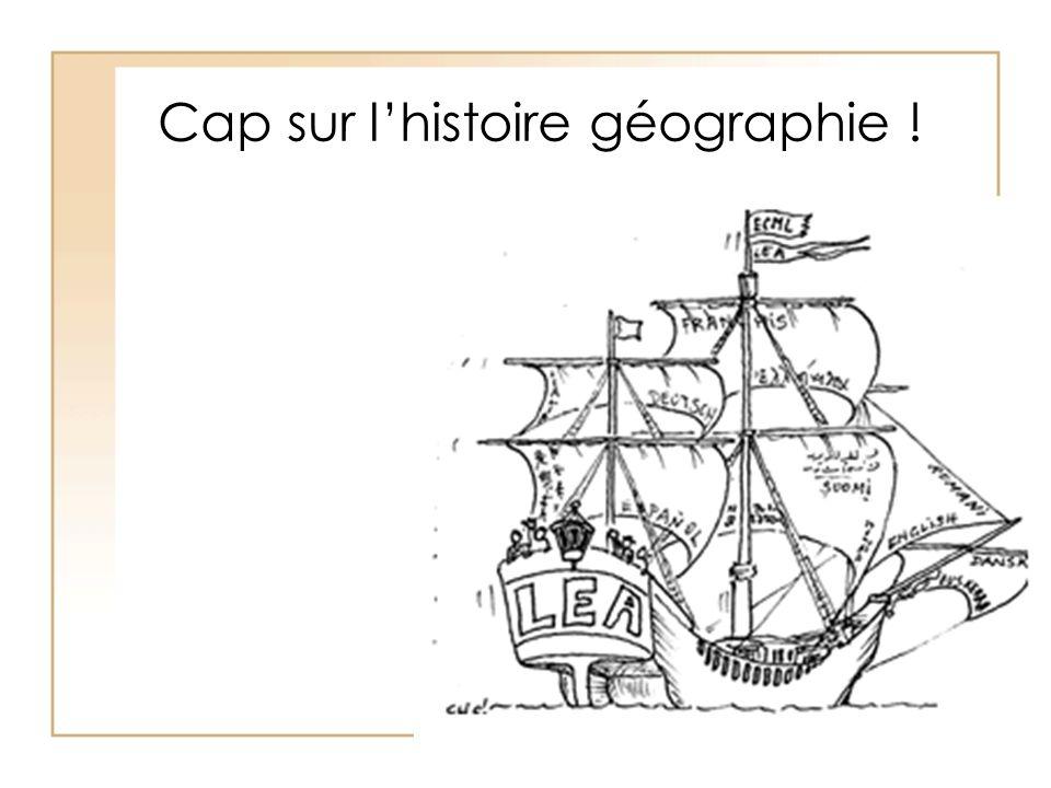 Cap sur l'histoire géographie !