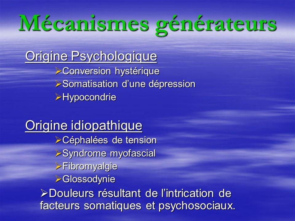 Mécanismes générateurs