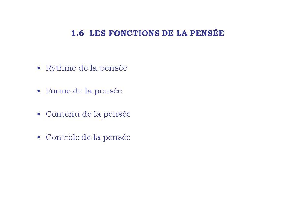 1.6 LES FONCTIONS DE LA PENSÉE