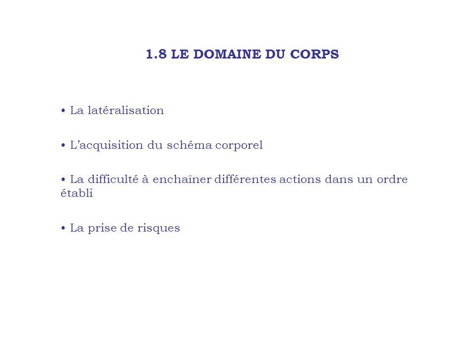 1.8 LE DOMAINE DU CORPS La latéralisation