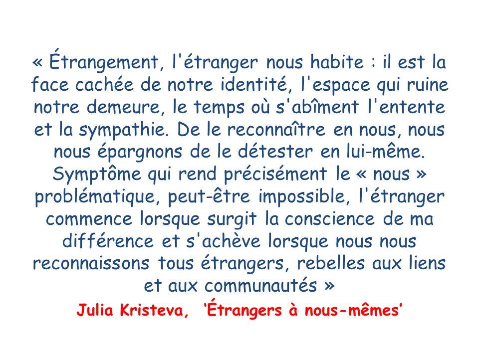 Julia Kristeva, 'Étrangers à nous-mêmes'