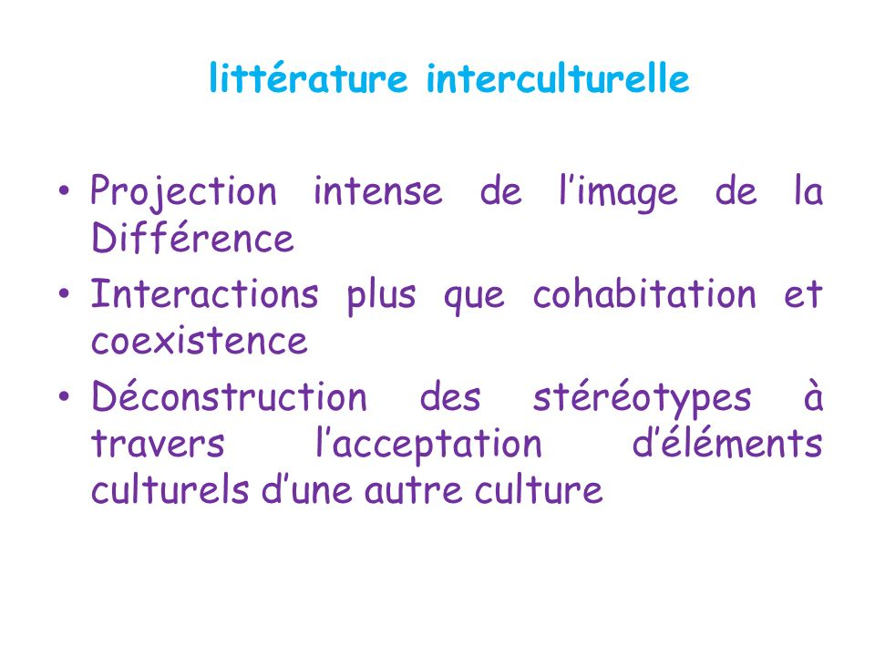 littérature interculturelle