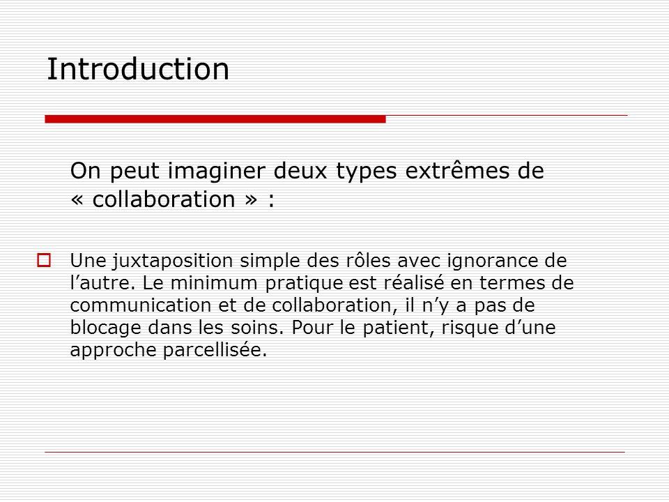 On peut imaginer deux types extrêmes de « collaboration » :