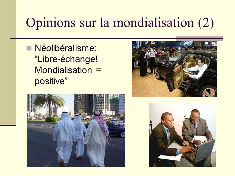 Opinions sur la mondialisation (2)