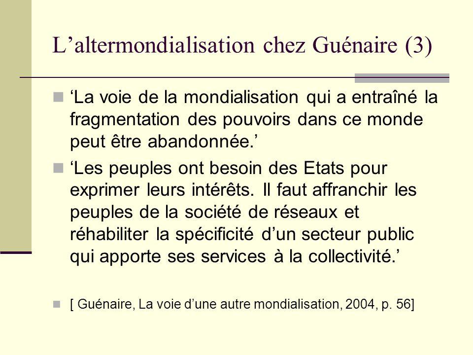 L'altermondialisation chez Guénaire (3)