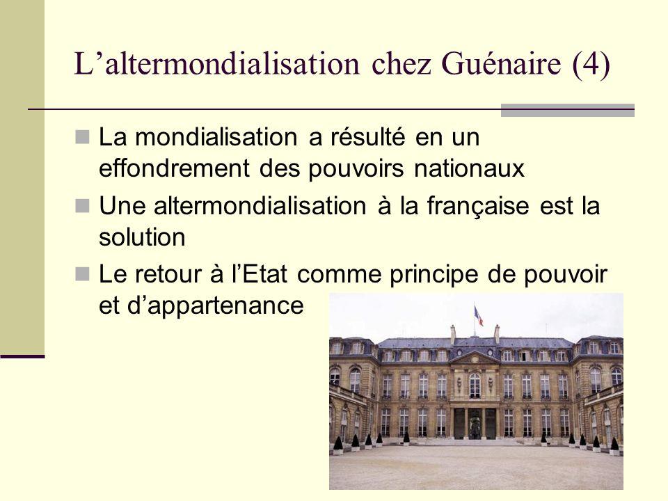 L'altermondialisation chez Guénaire (4)