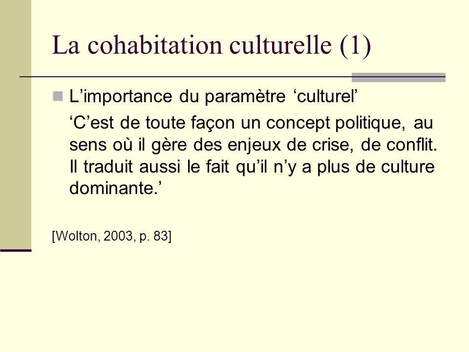 La cohabitation culturelle (1)