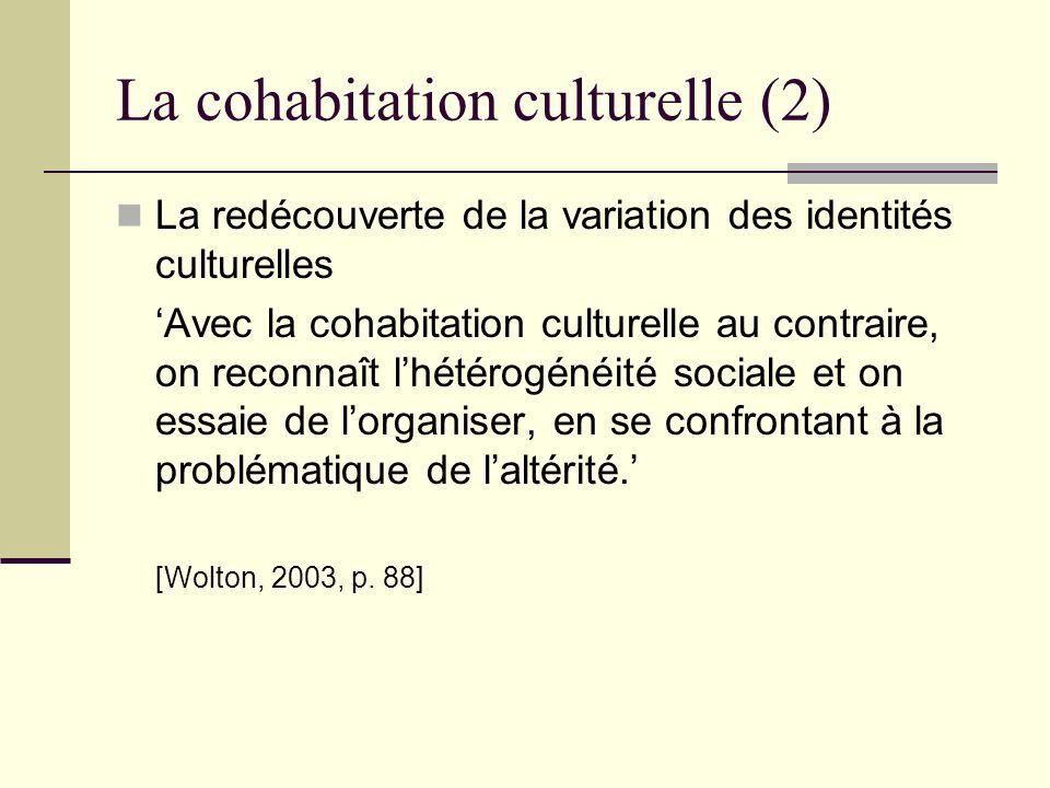 La cohabitation culturelle (2)