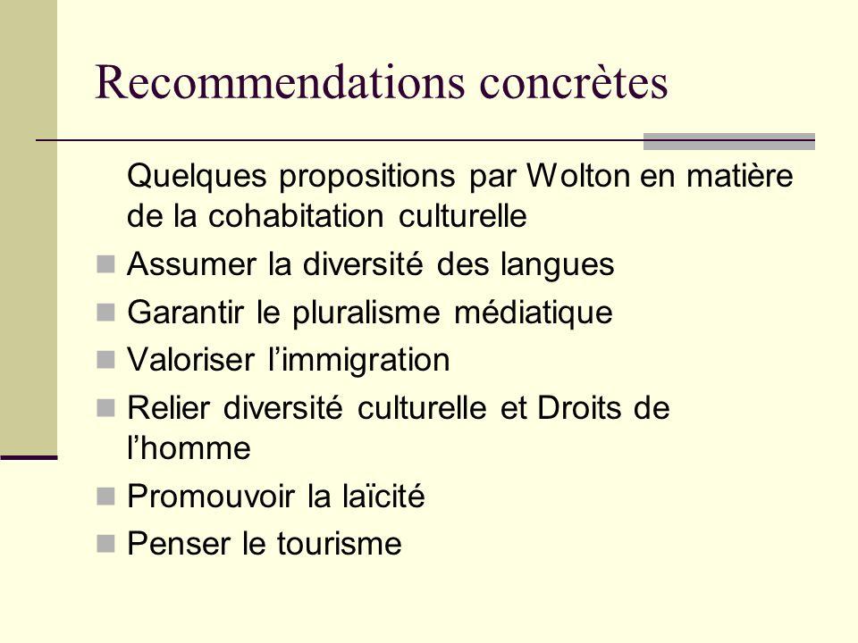 Recommendations concrètes