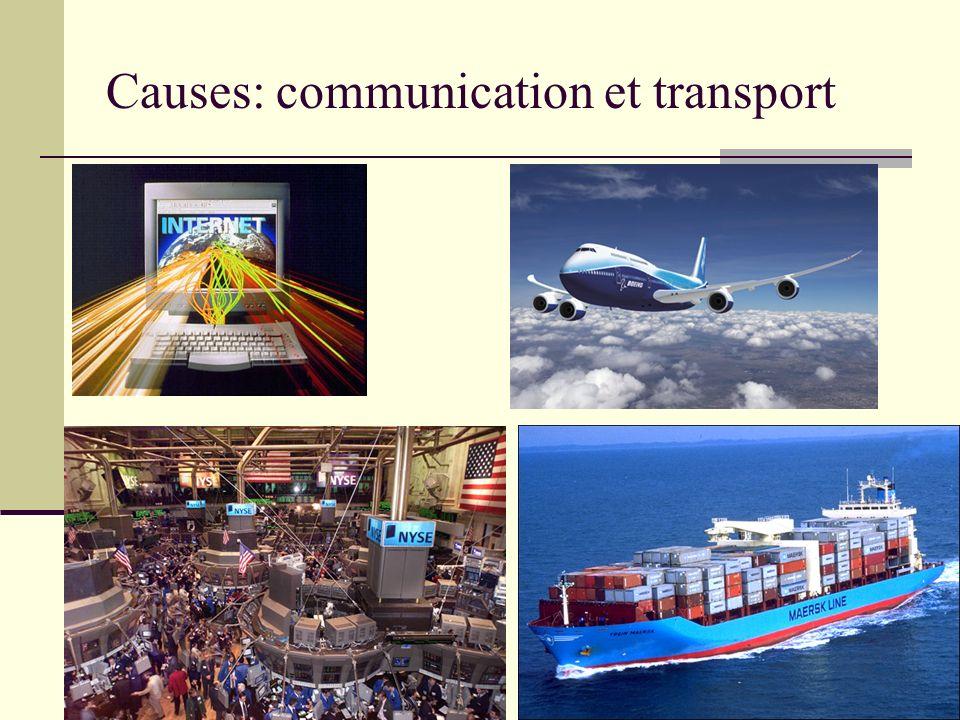 Causes: communication et transport