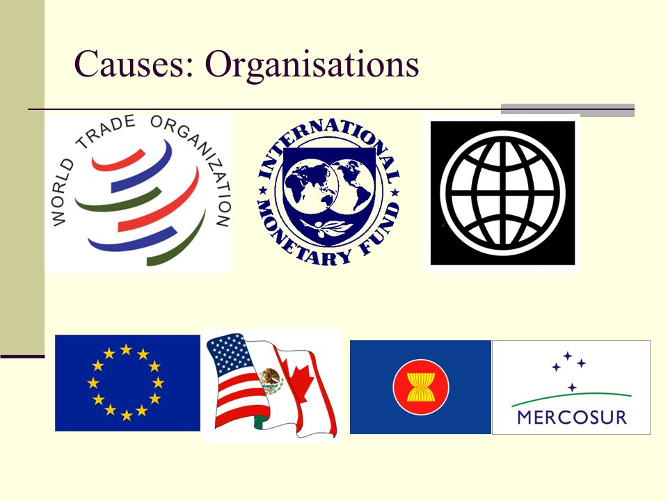 Causes: Organisations