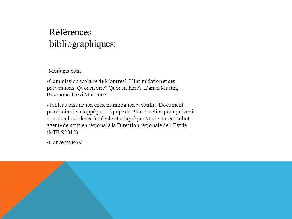 Références bibliographiques: