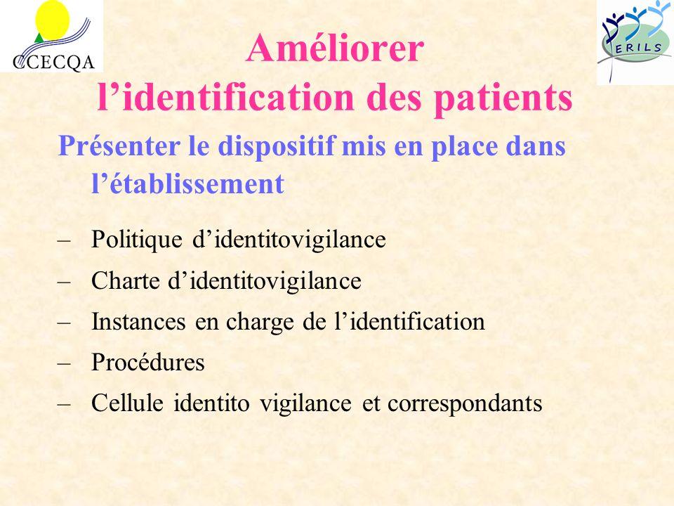 Améliorer l'identification des patients