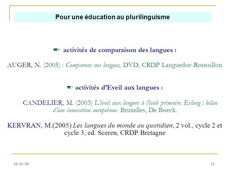 Pour une éducation au plurilinguisme