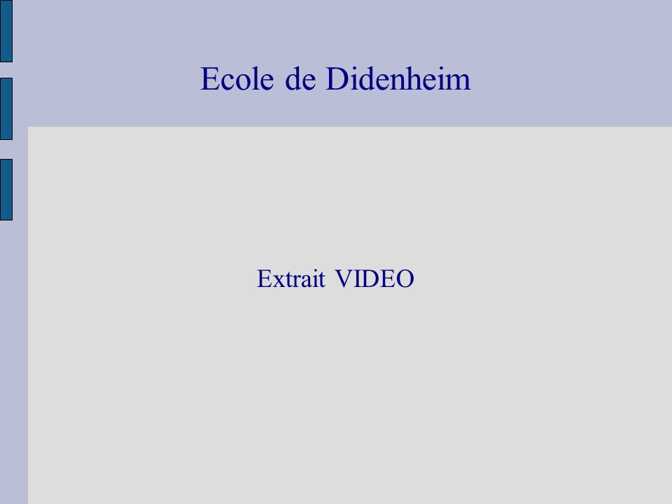 Ecole de Didenheim Extrait VIDEO