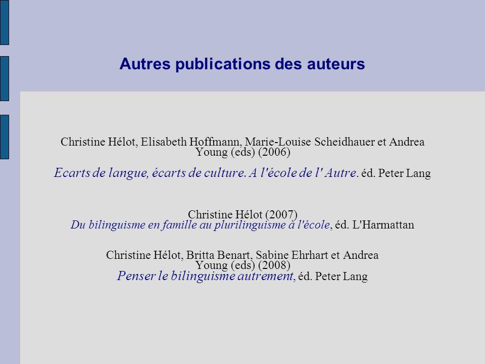 Autres publications des auteurs