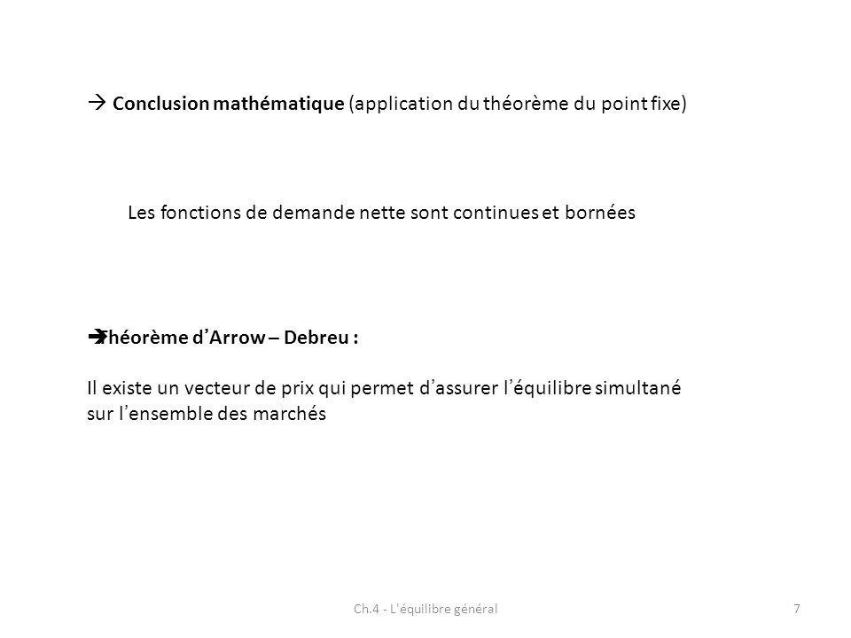 Ch.4 - L équilibre général