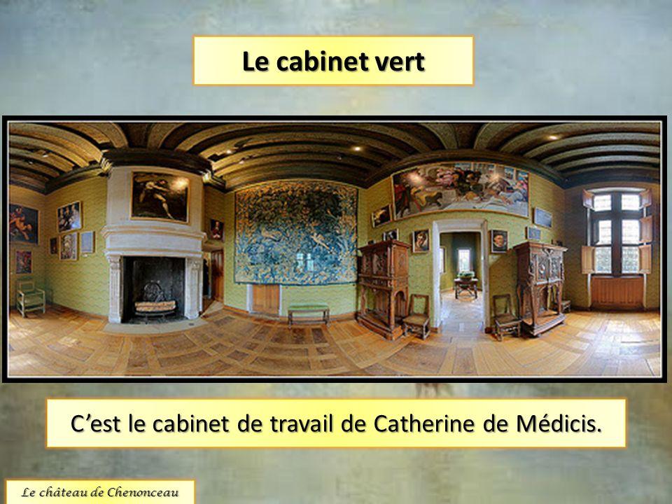 Le cabinet vert C'est le cabinet de travail de Catherine de Médicis.
