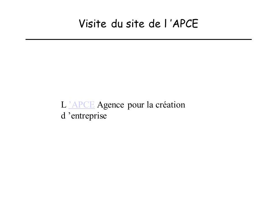 Visite du site de l 'APCE