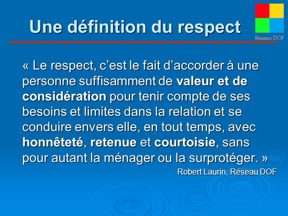 Une définition du respect