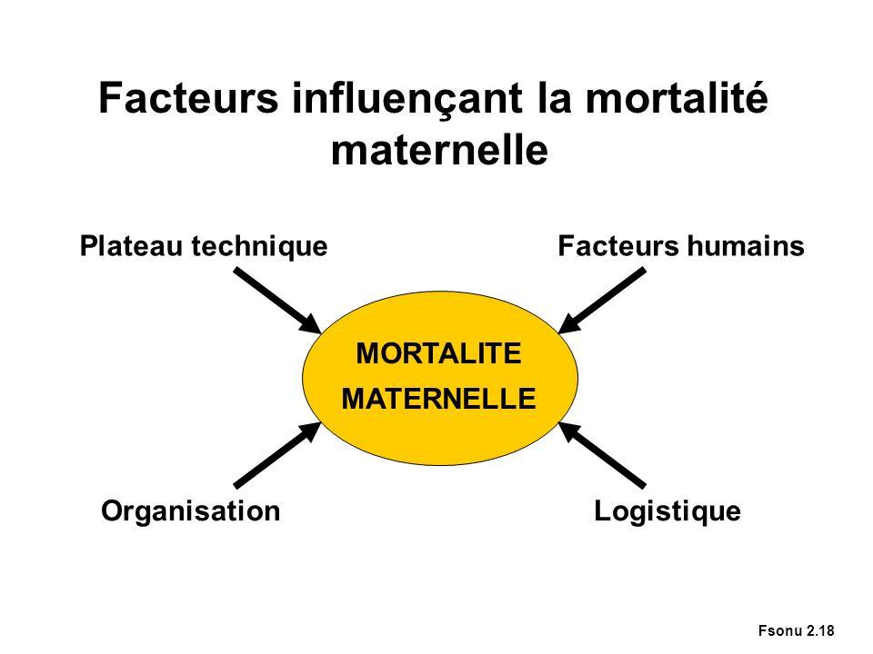 Facteurs influençant la mortalité maternelle