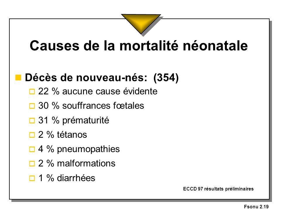 Causes de la mortalité néonatale