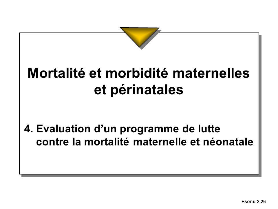 Mortalité et morbidité maternelles et périnatales
