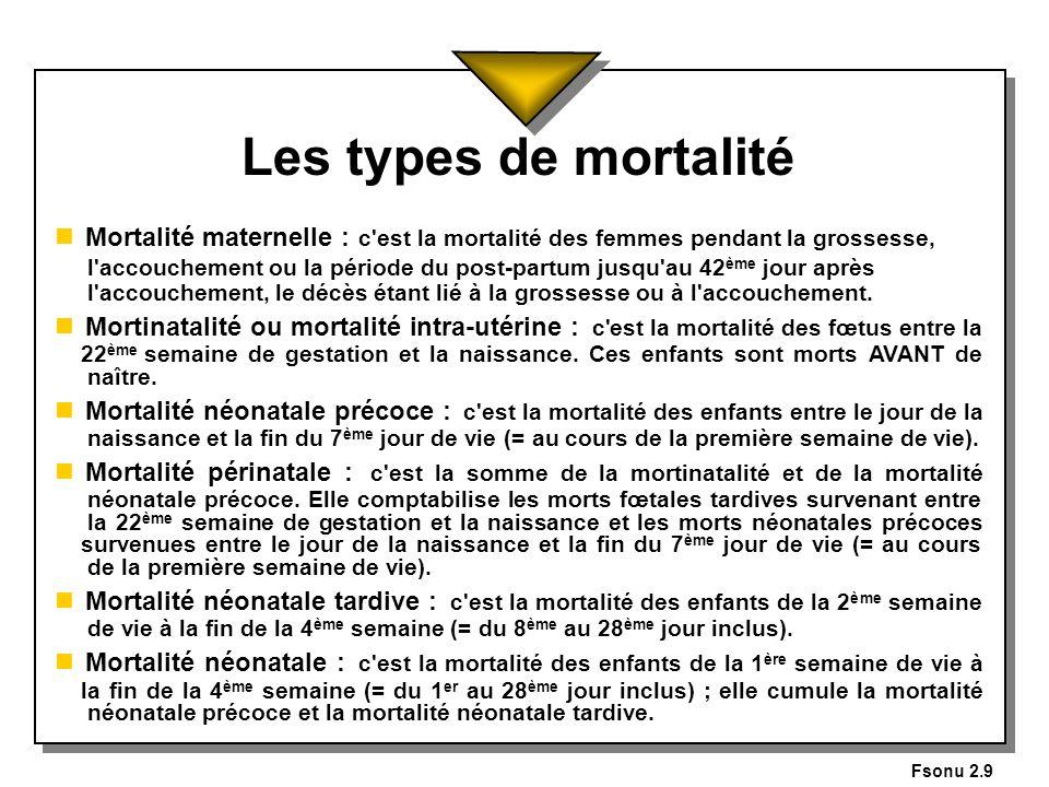 Fsonu 2.9 Les types de mortalité.
