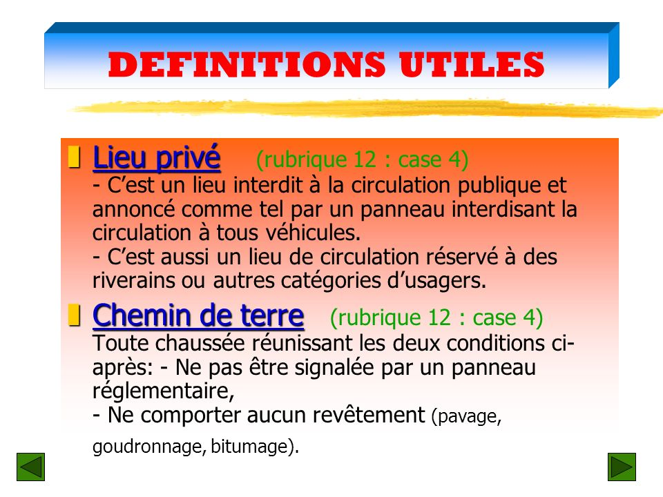 DEFINITIONS UTILES